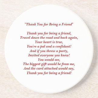 Thank You for Being a Friend - Coaster