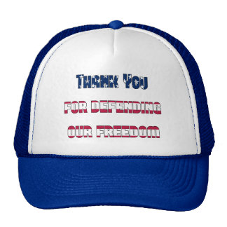 Thank you for defending our freedom Patriotic Cap