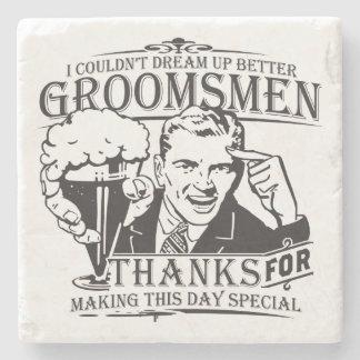 Thank You Groomsmen Stone Coaster