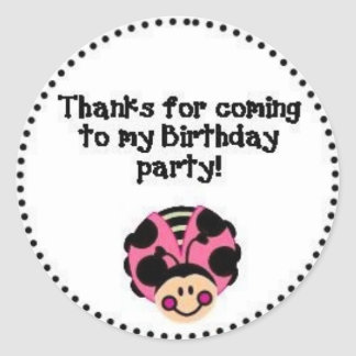 THANK YOU Ladybug Round Sticker