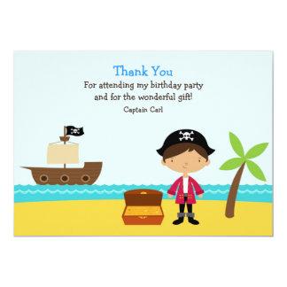 Thank You Pirate Card 13 Cm X 18 Cm Invitation Card
