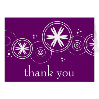 thank you, purple note card