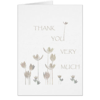 Thank you very Much, flowers Greeting Card