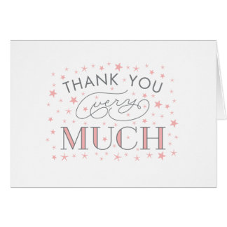 Thank You Very Much Star Baby Shower Thank Yous Note Card