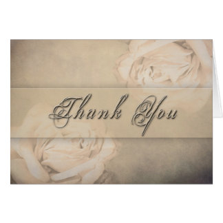 Thank You - Vintage Rose Note Card