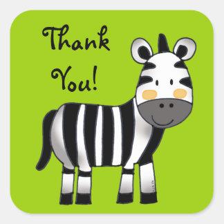 Thank you (zebra) square sticker