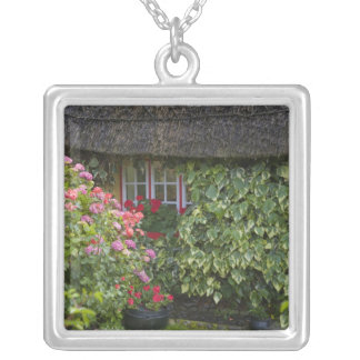 Thatched cottage, Adare, County Limerick, Square Pendant Necklace