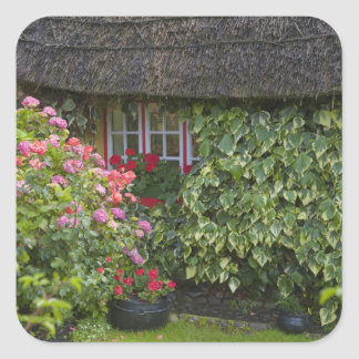 Thatched cottage, Adare, County Limerick, Square Sticker