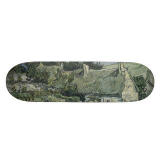 Thatched Cottages Cordeville by Vincent Van Gogh Skate Board Decks
