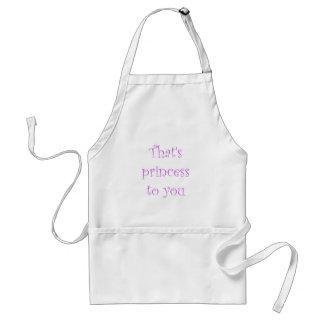 That's princess to you standard apron