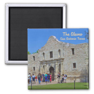 The Alamo San Antonio Texas Square Magnet