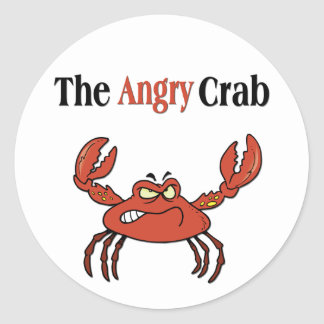 The Angry Crab Round Sticker