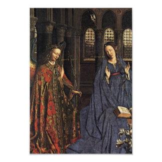 The Annunciation by Jan van Eyck 9 Cm X 13 Cm Invitation Card