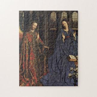 The Annunciation by Jan van Eyck Jigsaw Puzzles