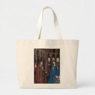 The Annunciation by Jan van Eyck Jumbo Tote Bag