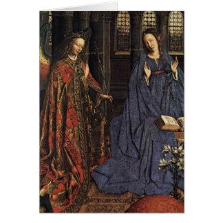 The Annunciation by Jan van Eyck Note Card