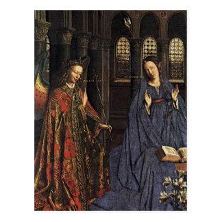 The Annunciation by Jan van Eyck Postcard