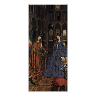 The Annunciation by Jan van Eyck Poster