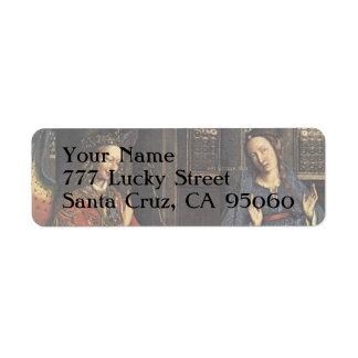 The Annunciation by Jan van Eyck Return Address Label