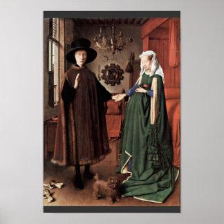 The Arnolfini Portrait The Arnolfini Wedding  By J Poster