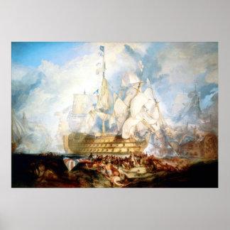 The Battle of Trafalgar ~ Vintage Fine Art Canvas Poster