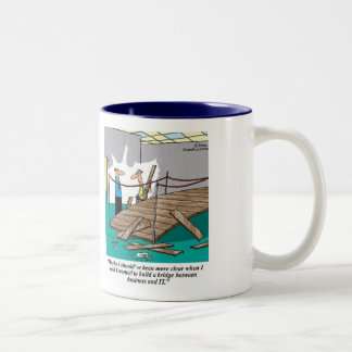 The Bridge between Business & IT: Business Analyst Two-Tone Mug