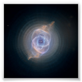 The Cat's Eye Nebula- Dying Star Creates Fant Poster