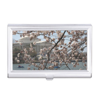 The Cherry Blossoms In Bloom In Washington DC Business Card Holder