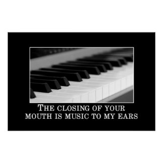 The closing your mouth is music to my ears [XL] Poster