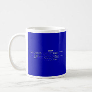 The Computer Blue Screen of Death Basic White Mug