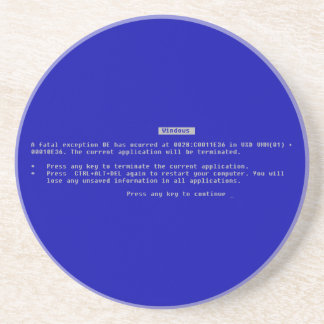 The Computer Blue Screen of Death Coasters