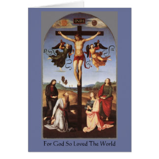 The Crucifixion of Christ by Raphael Greeting Card