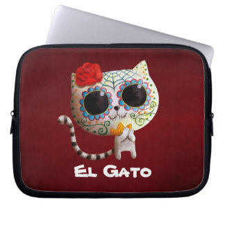The Day of The Dead Cute Cat Computer Sleeves
