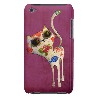 The Day of The Dead White Cute Cat iPod Touch Cover