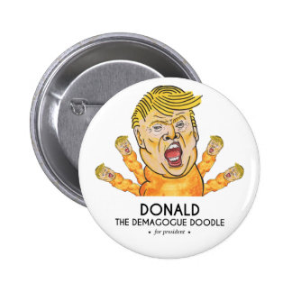 The Demagogue Doodle 6 Cm Round Badge