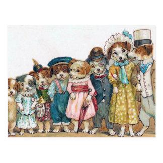 """The Dog Family"" Vintage Postcard"