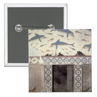 The Dolphin Frescoes in the Queen's Bathroom 15 Cm Square Badge