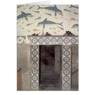 The Dolphin Frescoes in the Queen's Bathroom Greeting Card