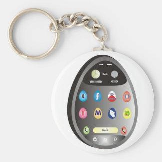 The egg-Phone Basic Round Button Key Ring