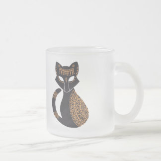 The Egyptian Cat Frosted Glass Mug