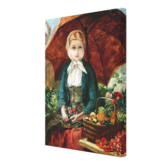 The Flower Girl Gallery Wrap Canvas