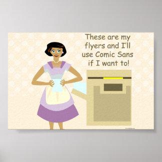 The Flyer Design Goddess Poster