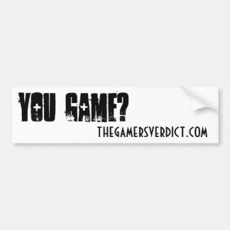 The Gamer's Verdict Bumper Sticker