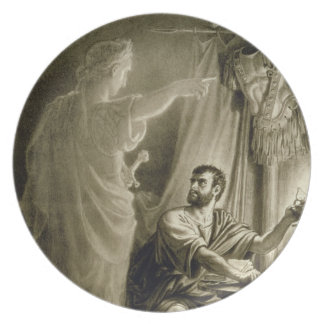 The Ghost of Julius Caesar, in the play by William Plate