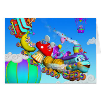 The GiggleBelly Train Note Card