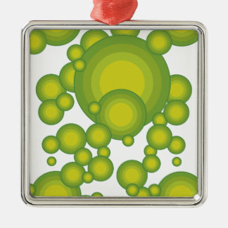 The Green blisters Silver-Colored Square Decoration