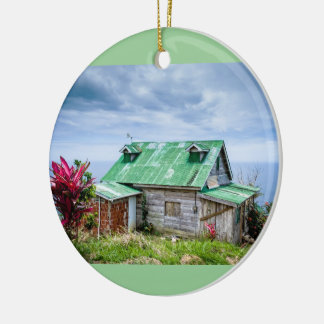 the green roof round ceramic decoration