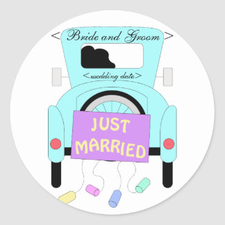 The Happy Couple Round Sticker