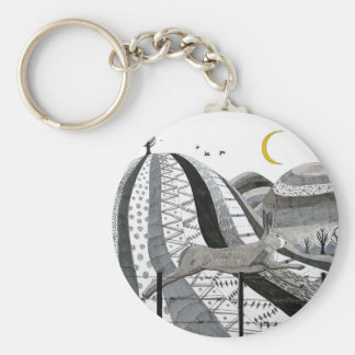 The Hare Basic Round Button Key Ring