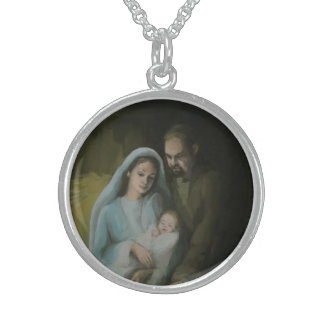 The Holy Family Round Pendant Necklace